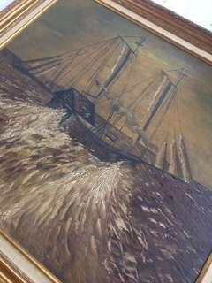 Lukisan Perahu Layar