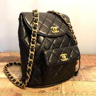 Authentic Chanel Timeless Classic Backpack with 24k Gold Hardware