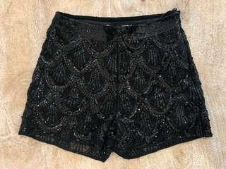 Sequins brand new shorts