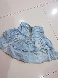 Zara mini jeans skirt