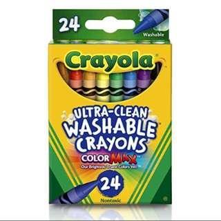 Brand New Crayola Washable Crayons 24 Pcs