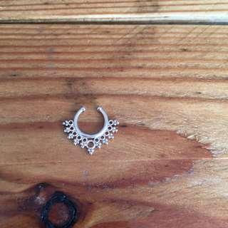 Fake septum clip on ring rose gold
