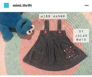 Dress (Brand : Mango) , 3years #OCT10