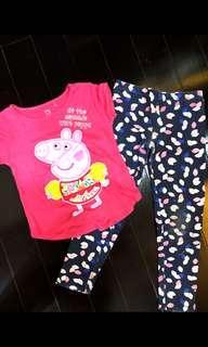 Peppa pig dan cotton on legging