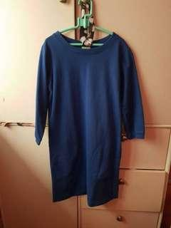 3/4 NAVY BLUE DRESS