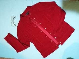 Wine Red Button Down Jacket