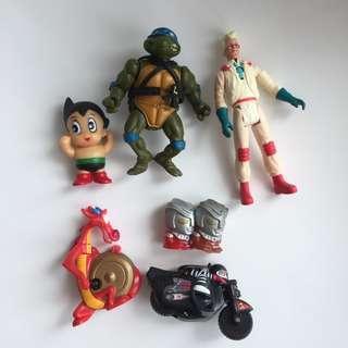 Ghostbusters Ninja Turtle Astro Boy McDonald Toy Lot