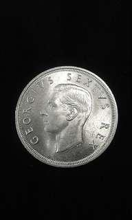 1962-1952 South Africa 300th Year  Anniversary Of The Founding Of Cape Town 5 Shillings(Silver)