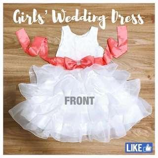 🚚 Girls Wedding Dress