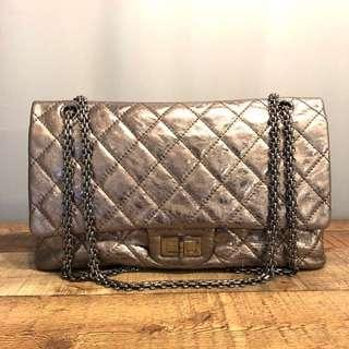 Authentic Chanel 2.55 Reissue in Luxurious Silver 227