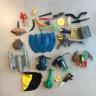 Batman Superman Animated Weapons Accesories Vehicles Lot