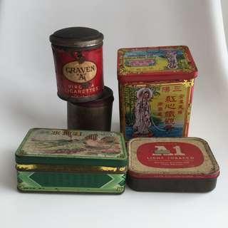 Vintage Cigarette Tobacco Tea Tin Lot