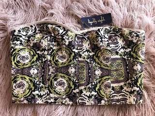 Tiger lily crop top size 12