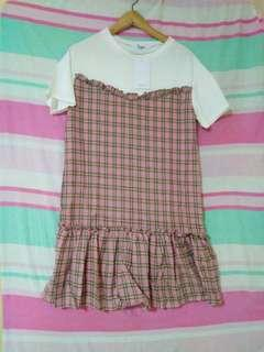BN Pink checked dress