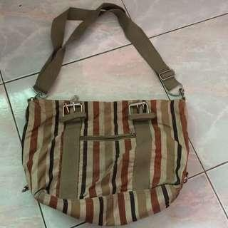 Preloved Sling Striped Bag