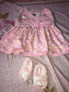 HELLO KITTY DRESS AND SHOES