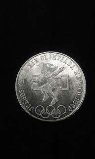 1968 Mexico XIX Olympics 25 Pesos(Silver)