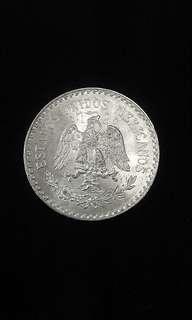 1933 Mexico Eagle With Snake In Beak One Peso(Silver)