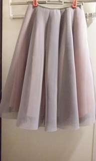 Korea mesh skirt 韓靚料2層傘裙