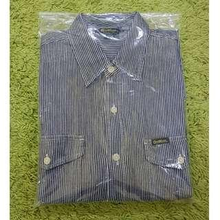 OSH KOSH Hickory Stripes Bluewhite Shirt, L. (Original)
