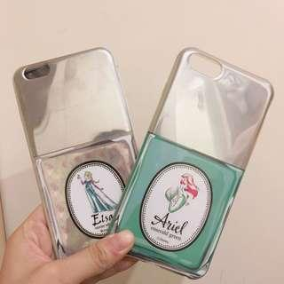 🚚 I phone6/6s 5.5吋迪士尼公主Elas小美人魚手機殼兩個全帶走