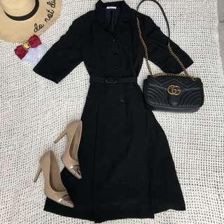 HQ Japanese Button Down Matching belt Vintage Dress fully lined 👌🏻