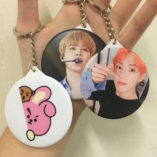 Customizable Customize Personalize KPOP Mirror Reflective Cute Keychain / Keyring