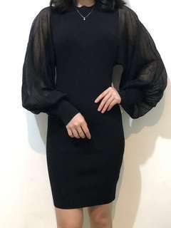 Zara Black knit dress