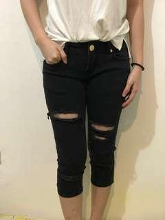 Black denim 3/4