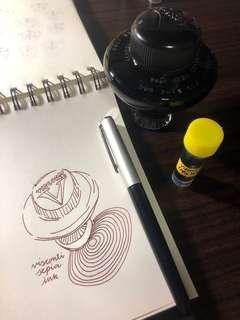 🚚 Visconti Sepia Fountain Pen Ink (5ml sample)