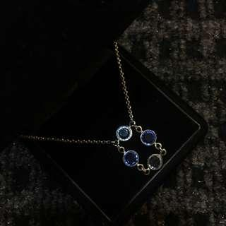 D'Orlan Blue Stone Necklace