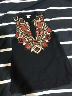 H&M patterned sleeveless