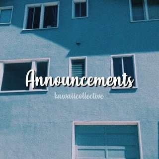 important announcement!!