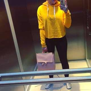 Yellow hoodie hnm