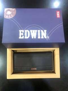 Edwin Leather Long Wallet