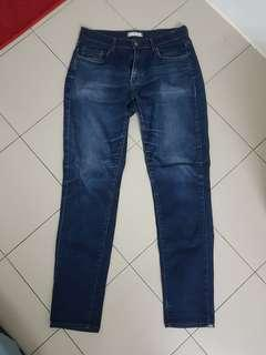 Uniqlo Slim Fit Tapered Stretch Jeans Size 31 79cm