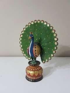 Peacock on Pedestal