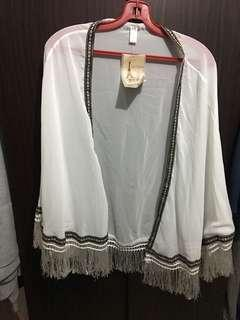 INSTOCK - NEW with tag ! White Transparent Beach Outer Wear