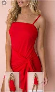 Fire red dress