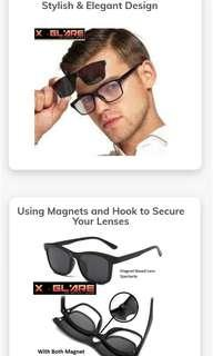 🕒 TIME SALES 🕒 READY STOCK!!  X- Glare Clip-on Magnetic Sunglasses with 5 lenses design