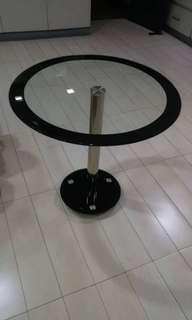 Round Glass-topped table