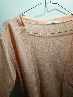 Outer oversize peach