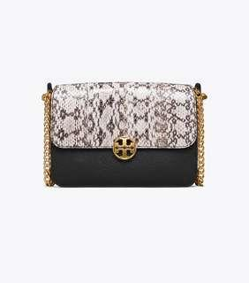d8bc92525fd3 Authentic Tory Burch 50528 Chelsea Color-block Snake Crossbody Sling Bag