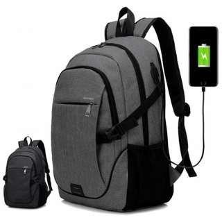 🔰Unisex Comfortable Cushion Padded Daily Urban City USB Laptop Backpack