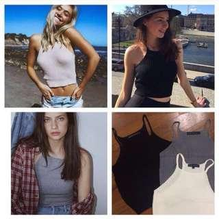 Brandy Melville Inspired Knit Crop Tops