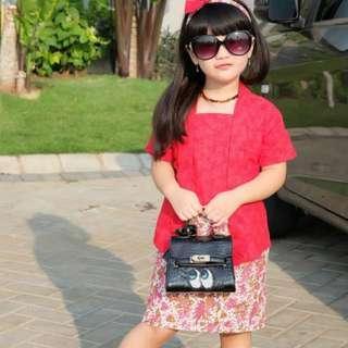 KUTUBARU KEBAYA ANAK CANTIK usia 1-8 tahun Merah cantik