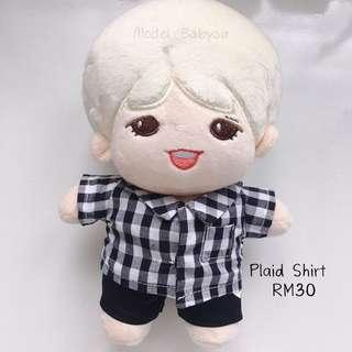 20cm Doll - Plaid Shirt