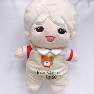 20cm Doll - Bear Clothes
