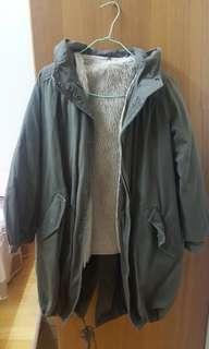 🚚 日本製內舖毛軍外套 長版外套 刷毛