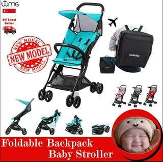 👶👪💞SEEBABY BABY STROLLER!! FOLDABLE, CABIN SIZE, SUPER LIGHTWEIGHT & PORTABLE, TRAVELLING/STORAGE CAR/HOME, 4 COLOURS! PINK, BLUE, RED & GREY! SPECIAL PRICE FOR STROLLER☔RAINCOAT & HOOKS FOR EVERY PURCHASE👶STROLLER CUSHION & WET WIPES CASING👶👪💞
